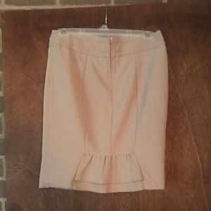 BCX TAN PENCIL SKIRT WITH DETAIL IN THE BACK